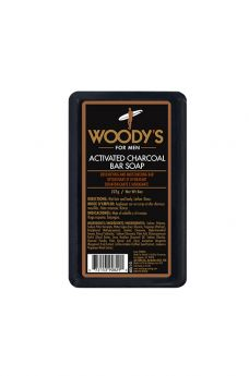 Woody's Activated Charcoal Bar Soap