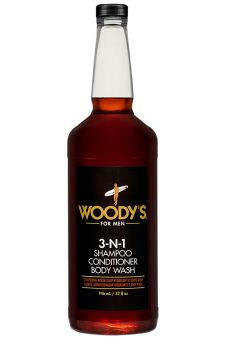 Woody's 3-N-1 Shampoo Conditioner Body Wash 32 fl oz